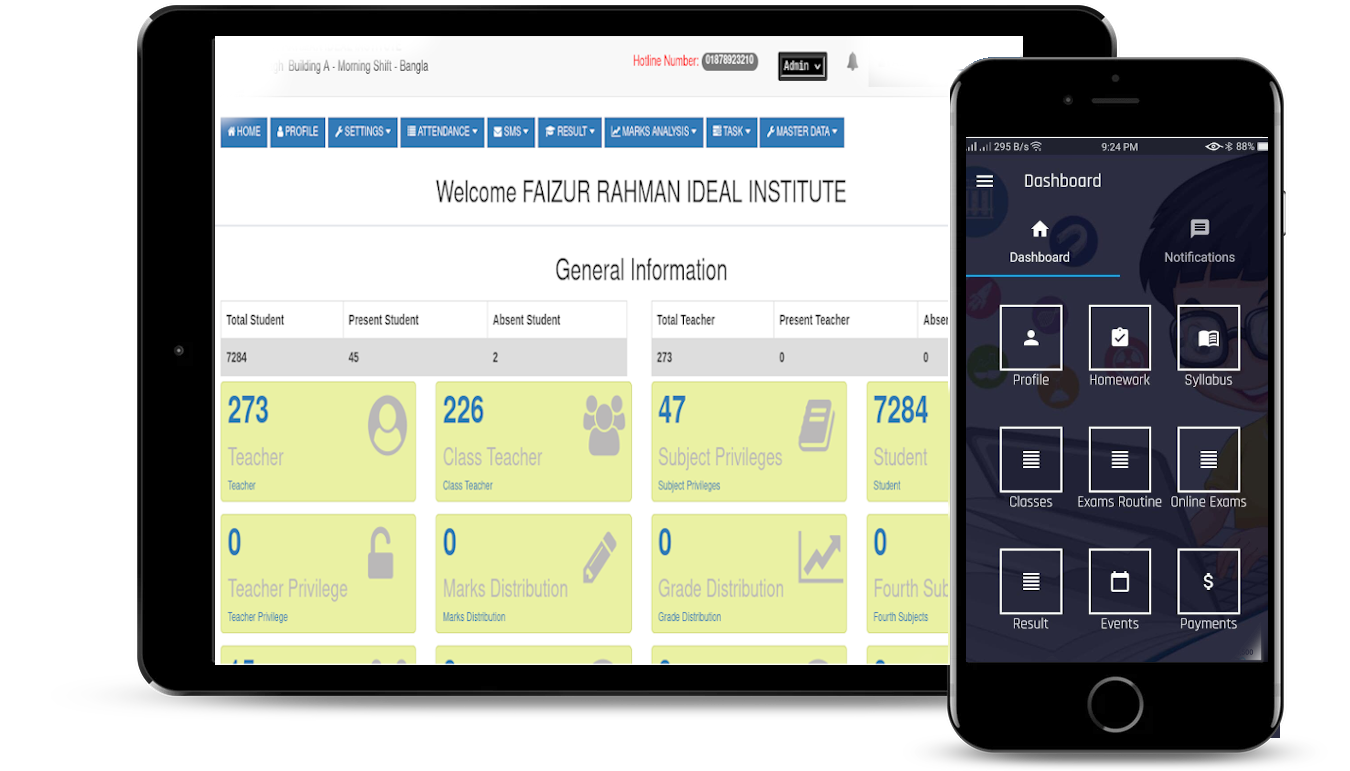 ClassApps Admin Dashboard For Quick Reporting